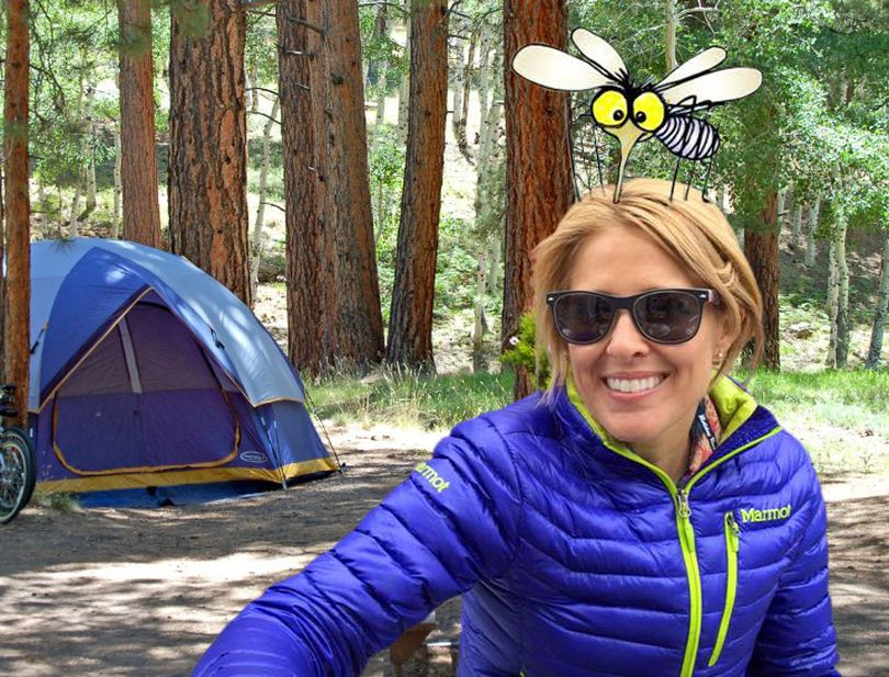 Kris Crocker says camping is not her favorite thing. (Staff illustration by Ralph Walter)