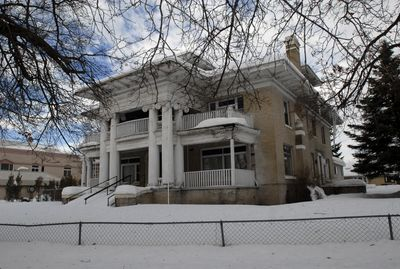 The Turner House, at 1521 E. Illinois Ave., was once a grand mansion with a view of the Spokane River. It is owned by Loganhurst and serves as home to Loganhurst manager Jim Delegans and his wife, Fay. (Jesse Tinsley / The Spokesman-Review)