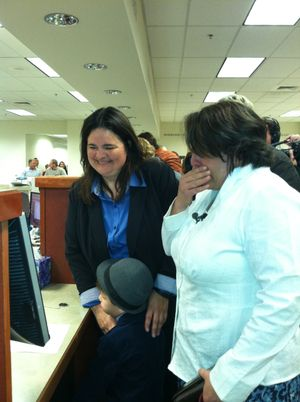 Ada County's first same-sex marriage license is issued to Andrea Altmayer and Shelia Robertson (Betsy Russell)