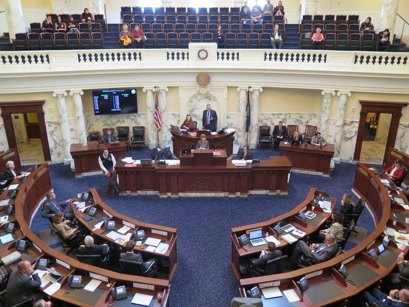 The Idaho House voted along party lines in favor of tax-cut legislation on Wednesday, Feb. 7, 2018. (Betsy Z. Russell)