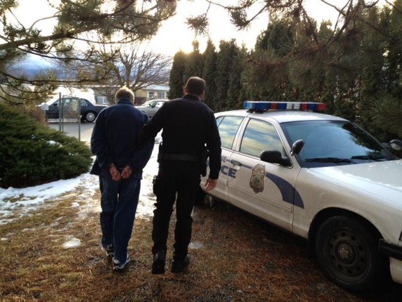 Spokane police arrest sex offender Christopher Ebner on child pornography charges. (Jennier DeRuwe / Spokane Police Department)