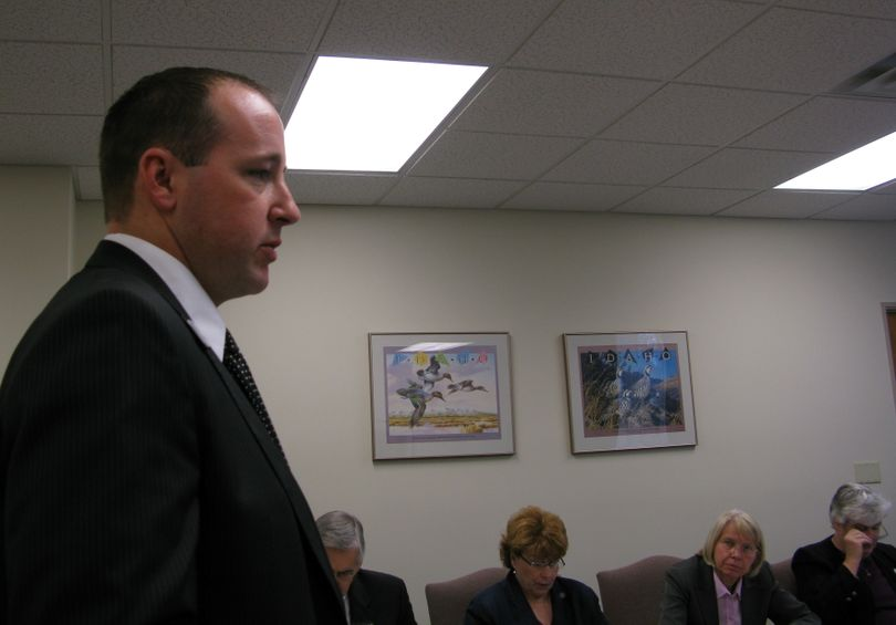 Rep. Steve Kren, R-Nampa, was closely questioned by the House Resources Committee when he proposed a bill regarding hunting fees without first consulting with the state Fish & Game Department. (Betsy Russell / The Spokesman-Review)