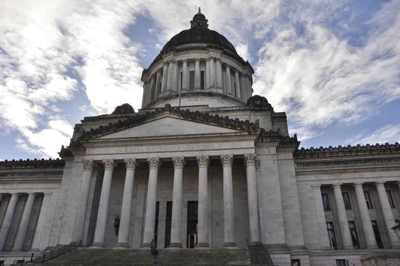 OLYMPIA -- North entrance to the domed Legislative Building on the Washington Capitol Campus. (Jim Camden/The Spokesman-Review)