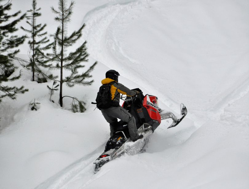 Snowmobiling in North Idaho. (Rich Landers)
