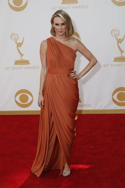 """Elisabeth Hasselbeck of """"Fox & Friends"""" is shown at the 65th Annual Primetime Emmy Awards on Sept. 22, 2013. Hasselbeck says, """"I feel blessed with having had really great employment and searching really hard for work that is as fulfilling and challenging."""" (File)"""