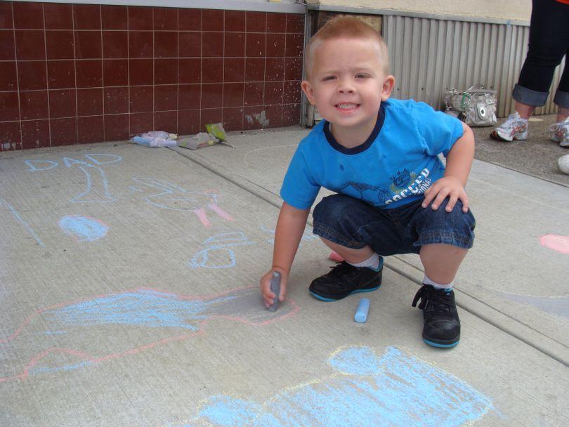 Ryan Schatz at the Hillyard Chalk Art Walk on June 18, 2011 (Luke Tolley)