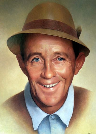 A 1966 oil painting of Bing Crosby by Leslie Emery.   (Associated Press / The Spokesman-Review)