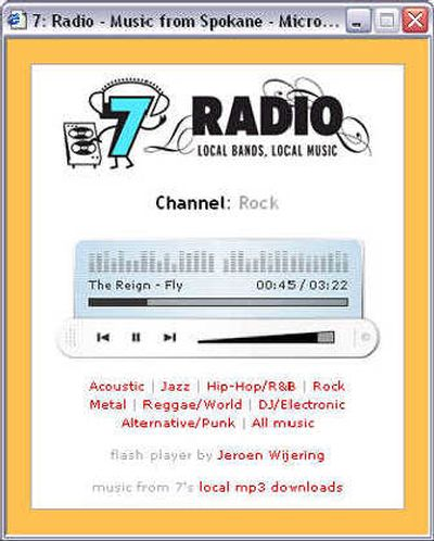 7 Radio streams songs from 7' online database of local bands' mp3s.  (The Spokesman-Review)