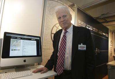James H Billington, U.S. librarian of Congress, visits UNESCO headquarters for the launch of the World Digital Library in Paris on Tuesday.  (Associated Press / The Spokesman-Review)
