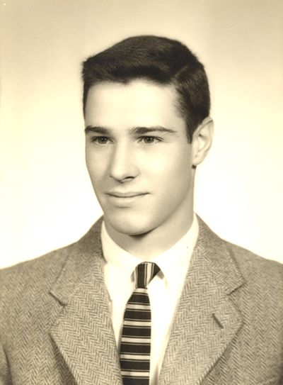Dick Avery in his 1959 high school graduation photo at New Trier Township High School in Winnetka, Ill.