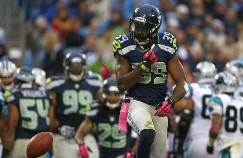 Brandon Browner, shown in 2012 game, will be back in a Seahawks uniform next season. (Bob Leverone / Associated Press)