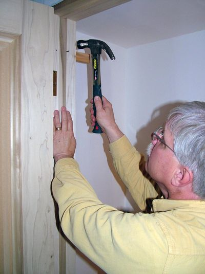 Installing a pre-hung door is not too hard. It requires attention to detail. (Tim Carter)