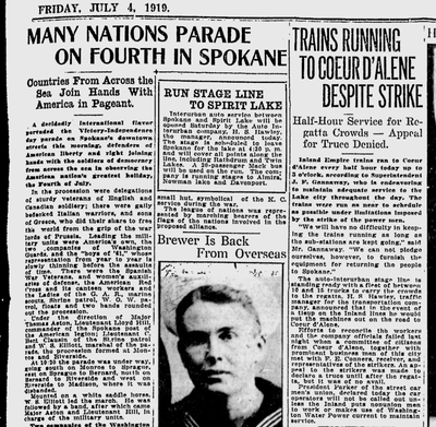Spokane's giant Victory and Independence Day parade through downtown had an international flavor, the Spokane Daily Chronicle reported on July 4, 1919. (Spokesman-Review archives)