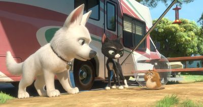 ORG XMIT: NYET533 In this image released by Disney Enterprises, animated characters, from left, Bolt, Mittens and Rhino are shown in a scene from the film,