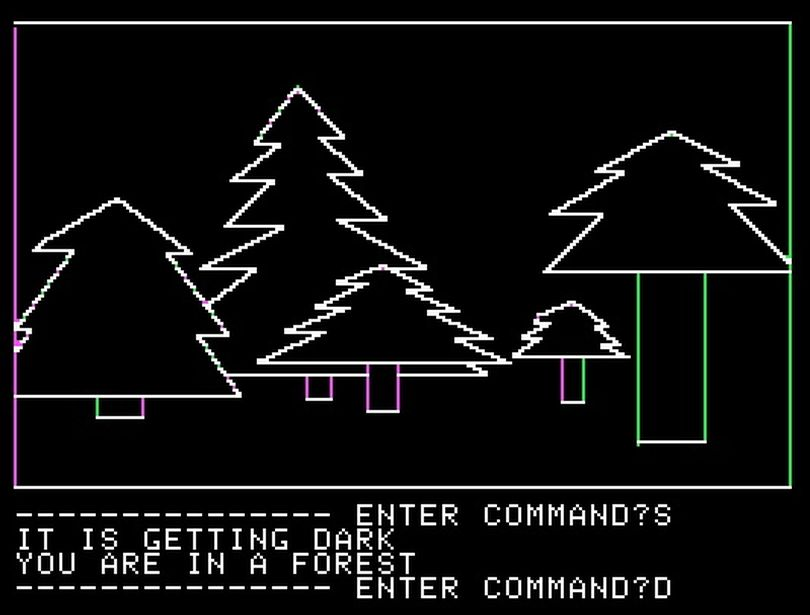 'Mystery House' was the first adventure game to use graphics, though rudimentary by today's standards, to immerse players in the game world.