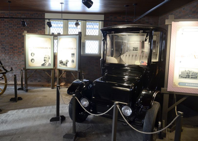 At the Northwest Museum of Arts and Culture in Spokane, a 1915 Rauch and Lang electric car is part of the new exhibit in the Campbell House carriage house. (Jesse Tinsley)