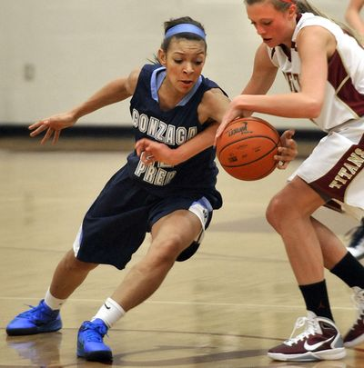 Gonzaga Prep's Tia Presley, known for her hustling play, could become the GSL's career scoring leader.  (Dan Pelle)