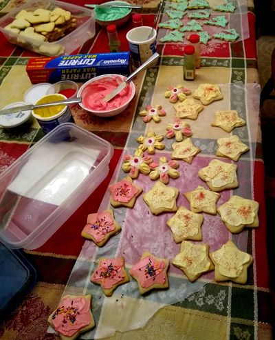 Derek and Cindy Hval decorated Christmas cookies without their kids this year. (Cindy Hval / The Spokesman-Review)