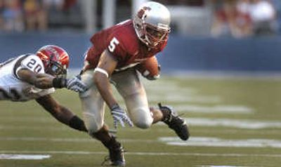 Michael Bumpus closes in on WSU career reception list.  (Christopher Anderson / The Spokesman-Review)