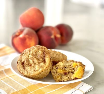 These peach oatmeal muffins are light, delicious and hearty and great for breakfast on the go.  (Julia Ditto/For The Spokesman-Review)