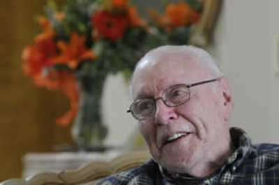 David Sullivan, seen at his Spokane home earlier this month, was a young doctor in two different theaters of World War II.   (Jesse Tinsley / The Spokesman-Review)