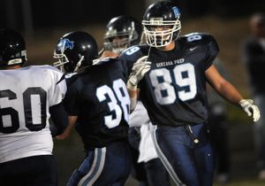 Gonzaga Prep's Travis Long is making waves as a defensive lineman and is being watched by Division I programs.  (Rajah Bose / The Spokesman-Review)