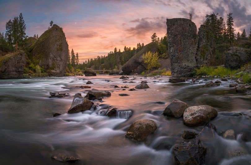 The Spokane River as it runs through the Bowl and Pitcher area of Riverside State Park. (Craig Goodwin)
