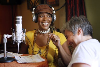 Cleo Harris, best known as Miss Cleo – the face and voice of the Psychic Friends Network television ads of a few years ago – is shown in Lake Worth, Fla., where she lives and has an Internet radio show for which she is shown interviewing Patti Lucia.McClatchy Tribune (McClatchy Tribune / The Spokesman-Review)