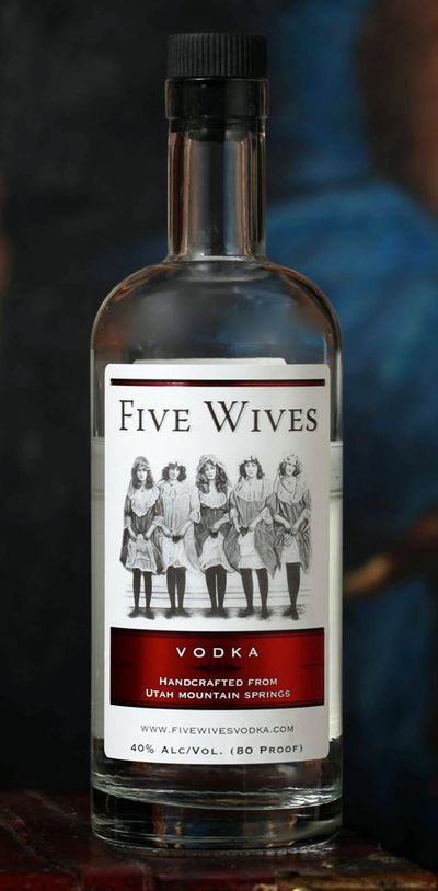 This image provided by Ogden's Own Distillery shows a bottle of Five Wives Vodka. (Associated Press)