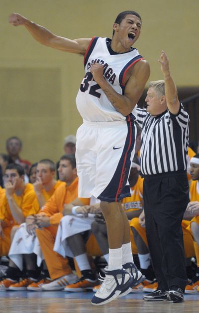 Steven Gray and the Zags are 3-4 since beating Vols in November.  (Associated Press / The Spokesman-Review)