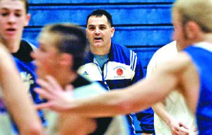 Coeur d'Alene basketball coach Kent Leiss is counting on his Vikings to play solid defense during the three-day State 5A tournament.   (Kathy Plonka / The Spokesman-Review)