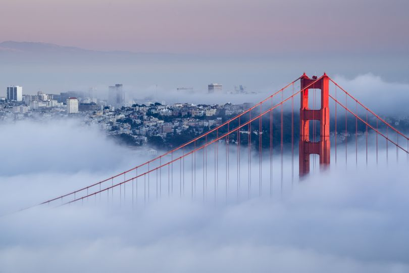 A solo drive over the foggy Golden Gate Bridge is a good way to reflect on travel in general. (Francesco Carucci / Istockphoto)