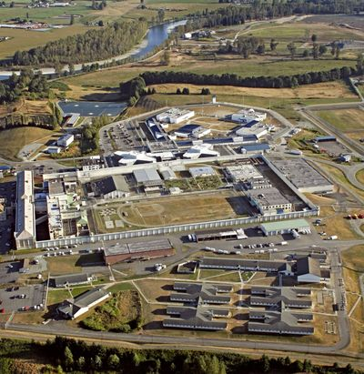 This Sept. 12, 2006 photo shows an aerial view of the Monroe Correctional Complex located in Monroe, Wash. A federal lawsuit accused corrections officers of failing to protect 45-year-old Gordon Powell, of Centralia, from being beaten to death at the complex in May 2015. (Betty Udesen / Betty Udesen/Seattle Times)