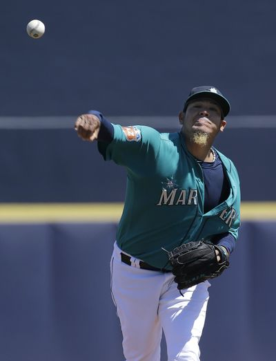Felix Hernandez allowed four first-inning runs in Seattle's 7-5 loss to San Diego. (Associated Press)