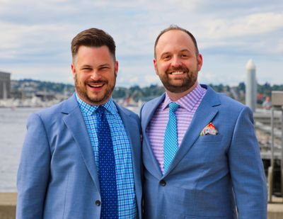 Ryan Short, left, and Sam Pettit married in Seattle this summer. (Steve Parris / Courtesy photo)