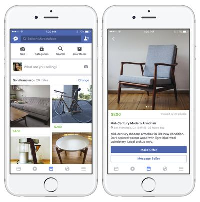 These images provided by Facebook show smartphone screen grabs demonstrating Facebook's new
