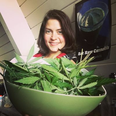 Pam Dyer has found health benefits by juicing raw marijuana plants. (Courtesy photo)
