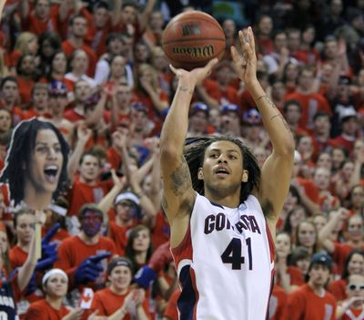 Steven Gray will play in his 121st career game tonight for Gonzaga; he is fifth in 3-pointers attempted and sixth in 3s made in program history. (Dan Pelle)