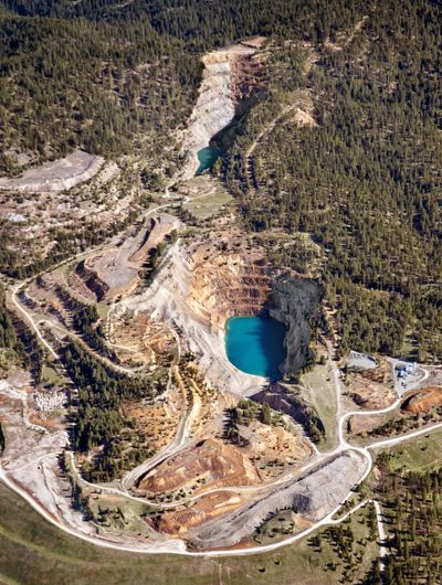 The Midnite Mine on the Spokane Indian Reservation is pictured in 2011. (Jed Conklin / The Spokesman-Review)