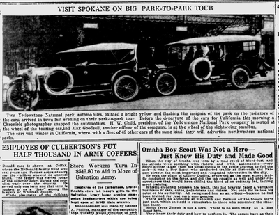 Spokane was actively promoting itself as the best route to and from the western parks, including Yellowstone, Glacier and Mt. Rainier. (Spokane Daily Chronicle archives)