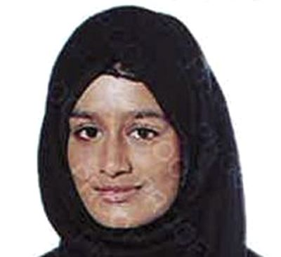 FILE - This undated photo released by the Metropolitan Police of London, shows Shamima Begum. Shamima Begum who ran away from London as a teenager to join the Islamic State group lost her bid Friday Feb. 26, 2021 to return to the U.K. to fight for the restoration of her citizenship, which was revoked on national security grounds.  (HOGP)