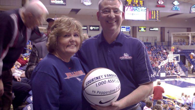 Jan and Bill Vandersloot -- proud parents of Gonzaga women's basketball star Courtney Vandersloot -- took charge of the