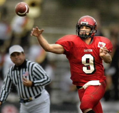 Reigning Big Sky Conference Offensive MVP quarterback Erik Meyer leads a potent Eastern Washington attack.  (File/ / The Spokesman-Review)