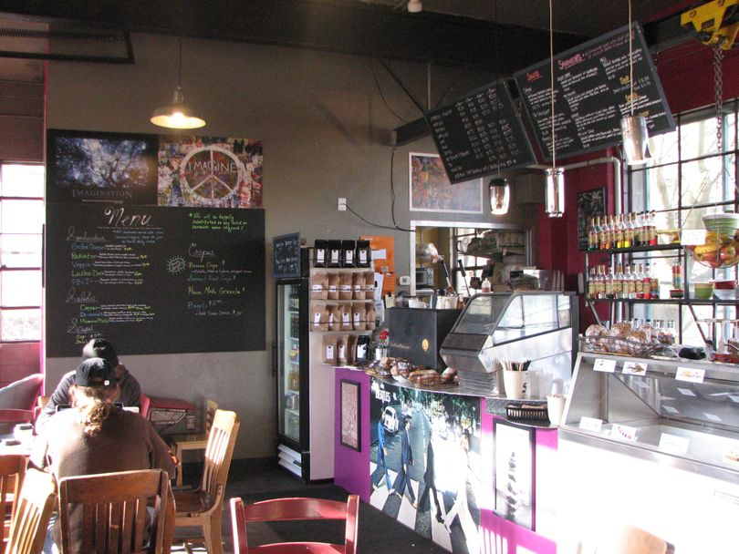 The newly updated interior from The Shop coffee house located at 924 S. Perry Street. (Pia Hallenberg)