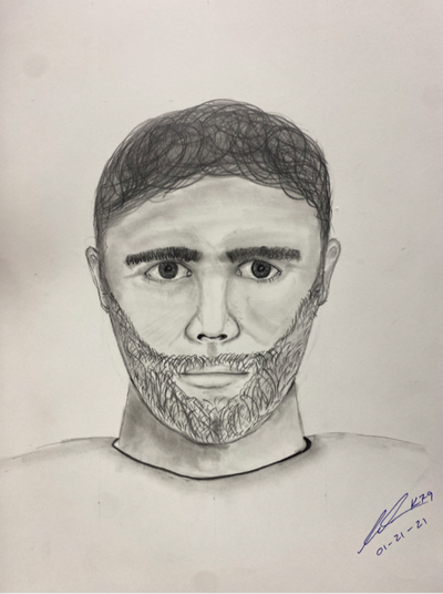 Coeur d'Alene police are distributing a sketch of a suspected sexual assailant in hopes of getting tips from the public, according to a Coeur d'Alene Police news release.  (Coeur d'Alene Police)