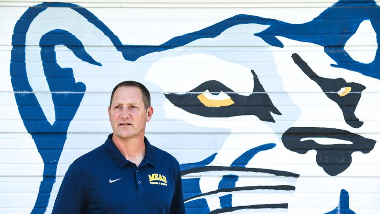 John Mires won 12 Greater Spokane League titles and four state titles during his time as Mead High School's track and field head coach.  (Dan Pelle/The Spokesman-Review)