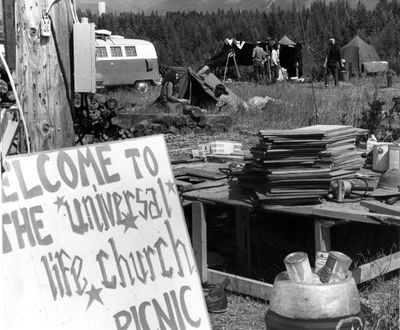 The Universal Life Church Picnic lasted several days in Farragut State Park in 1971.  (PHOTO ARCHIVE / The Spokesman-Review)