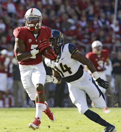 Stanford's Ty Montgomery scored five touchdowns. (Associated Press)
