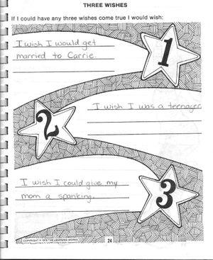 Zach's 3 wishes
