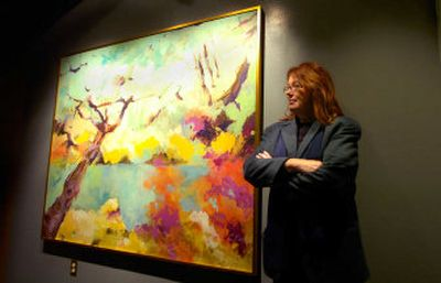 Spokane artist Christine Kimball has an exhibit hanging in the Kress Gallery on the third floor of River Park Square. Her large piece entitled